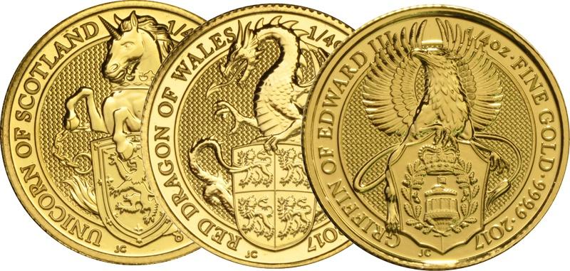 1/4oz Royal Mint Lunar Beasts Standard Series £25 Gold Coins