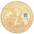 2011- Gold £5 Proof Crown, London Olympics Cycling