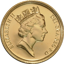 1985 Gold Sovereign - Elizabeth II Third head Proof