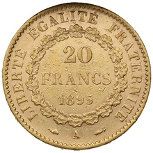 1895 20 French Francs - Guardian Angel - A