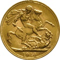 1913 Gold Sovereign - King George V - P