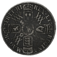 1693 William & Mary Silver Halfcrown