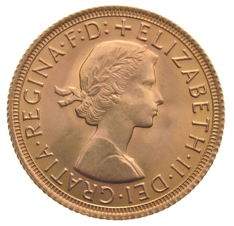 Sovereign - Elizabeth II, Young Head
