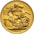1925 Gold Sovereign - King George V - M