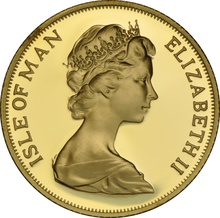 1973 Gold Sovereign - Elizabeth II Decimal Portrait - Isle of Man Proof