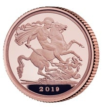 2019 Proof Quarter Sovereign Boxed