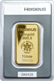 Heraeus 1oz Gold Bar