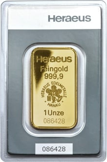 Heraeus 1oz Gold Bars