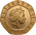 Gold Twenty Pence Piece