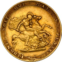 1817 Gold Sovereign - George III NGC XF Details