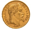 1867 20 French Francs - Napoleon III Laureate Head - A