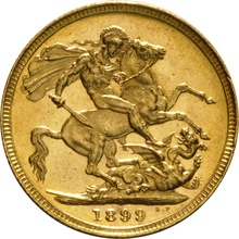 1899 Gold Sovereign - Victoria Old Head - S