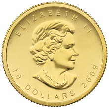 2009 Quarter Ounce Gold Canadian Maple