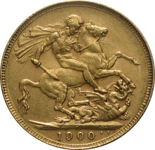 1900 Gold Sovereign - Victoria Old Head - P