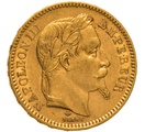 1865 20 French Francs - Napoleon III Laureate Head - A