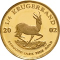 2002 Proof Quarter Ounce Gold Krugerrand