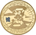 2009 - Gold £5 Proof Crown, Countdown to London 2012 Swimming