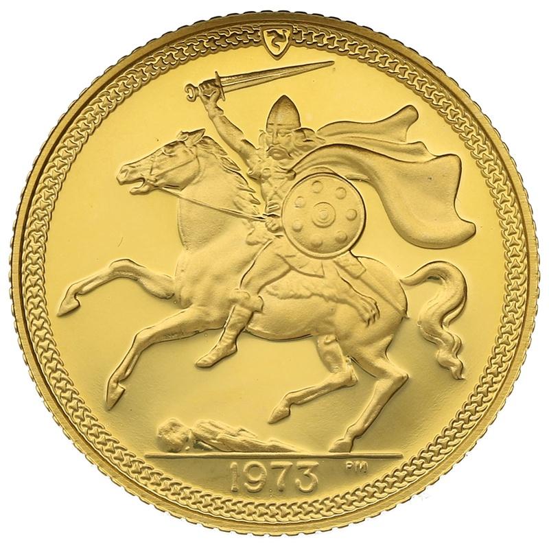 1973 Gold Half Sovereign - Elizabeth II Decimal Portrait - Isle of Man Proof