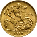 1912 Gold Half Sovereign - King George V - London