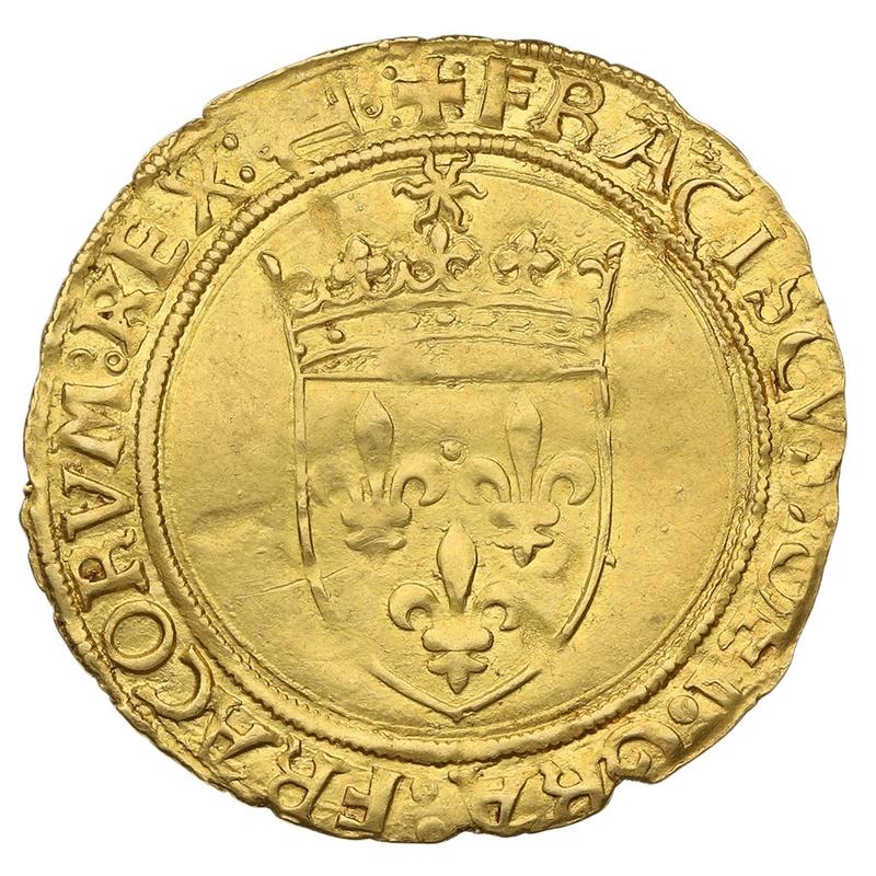 1515-1547 France Francis I  Gold Hammered Ecu D'Or