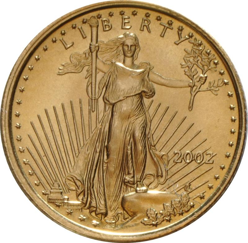 2002 Tenth Ounce Eagle Gold Coin