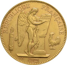 100 French Francs - Guardian Angel