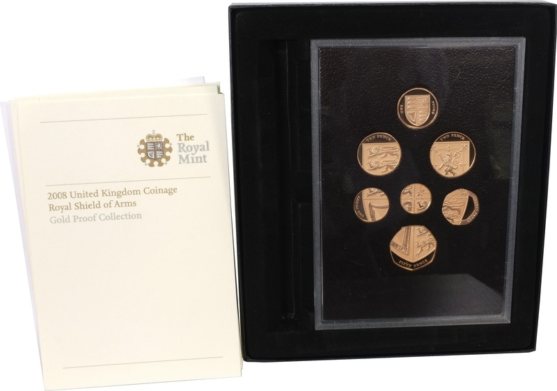 2008 UK Coinage, Royal Shield of Arms, Gold Proof Collection Boxed