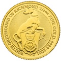 2021 White Greyhound of Richmond, Queen's Beast 1/4oz Gold Coin