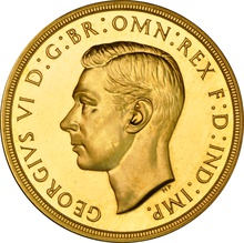 1937 - George VI Gold Proof Five Pound £5 Gold Coin NGC PF63 Cameo