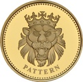 £1 One Pound Gold Proof Coin - Pattern Beast -2004 Lion