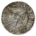 1016-1035 Cnut Hammered Silver Penny Pointed helmet type London Elfgar