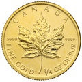 2010 Quarter Ounce Gold Canadian Maple