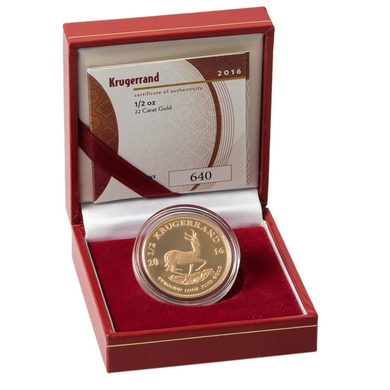 2016 1/2oz Gold Proof Krugerrand - Boxed