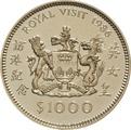 $1000 Hong Kong 1986 Royal Visit