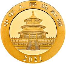 2021 30g Gold Chinese Panda Coin