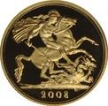 2008 Gold Half Sovereign Elizabeth II Fourth Head Proof