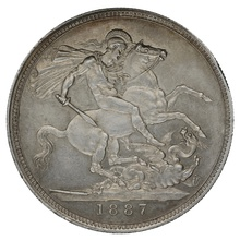 1887 Queen Victoria Silver Crown - Extremely Fine