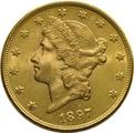 1897 $20 Double Eagle Liberty Head Gold Coin, San Francisco
