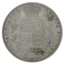 1845 Queen Victoria Silver Halfcrown CGS25