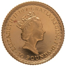 1989 Tenth Ounce Proof Britannia Gold Coin