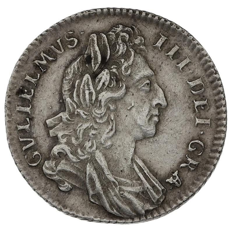 1696 William III Silver Sixpence