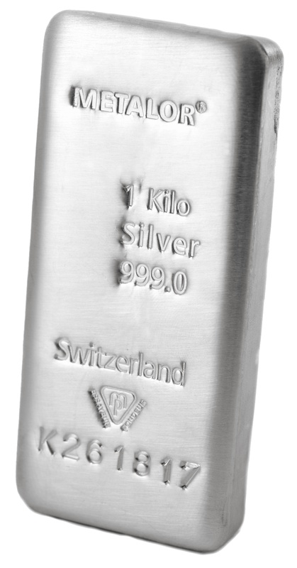 Metalor 1 Kilo Silver Bullion Bar