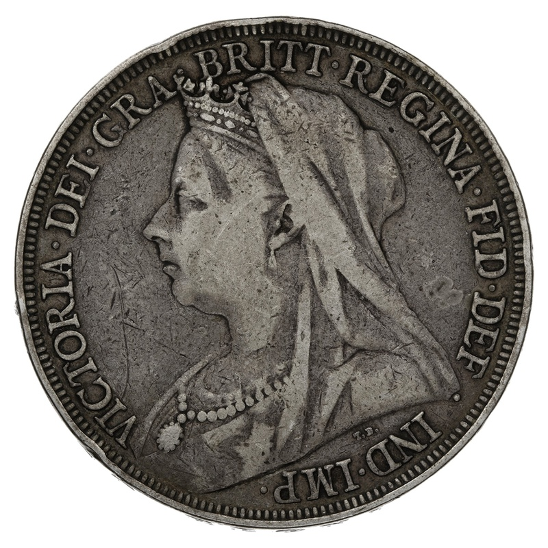 1896 LX Queen Victoria Silver Crown - Fine