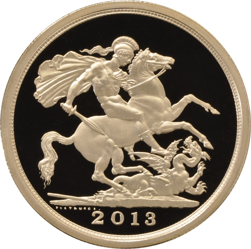 2013 - Gold £5 Proof Coin (Quintuple Sovereign)