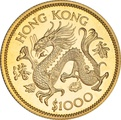 $1000 Hong Kong 1976 Year of the Dragon