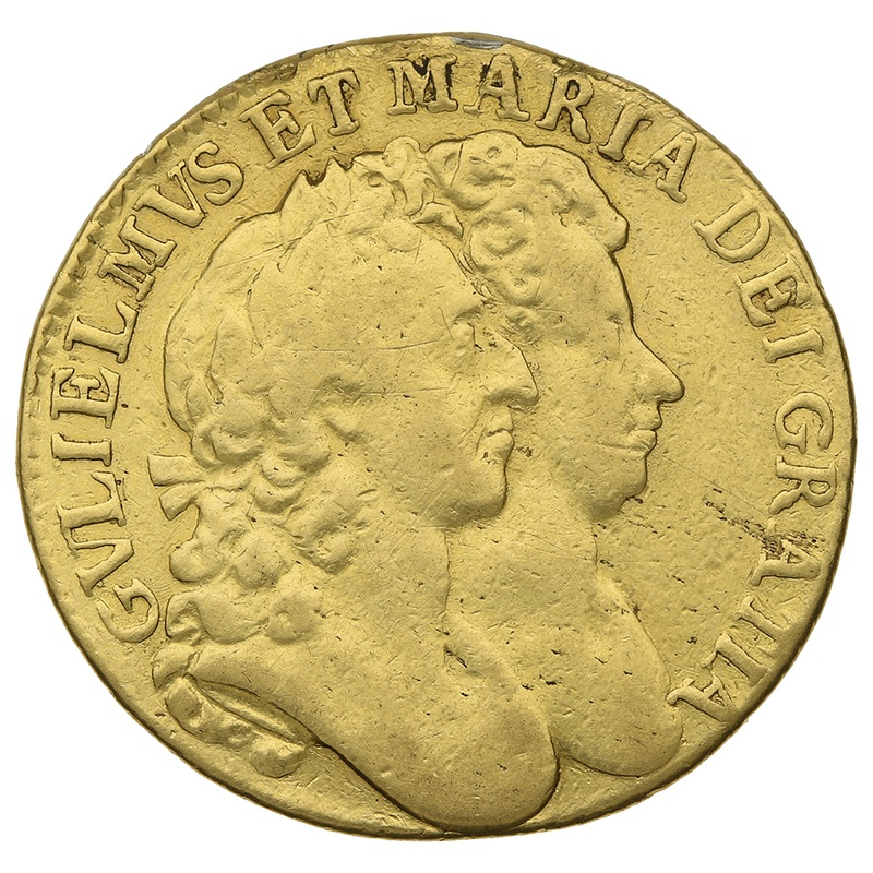 1692 William & Mary Gold Guinea