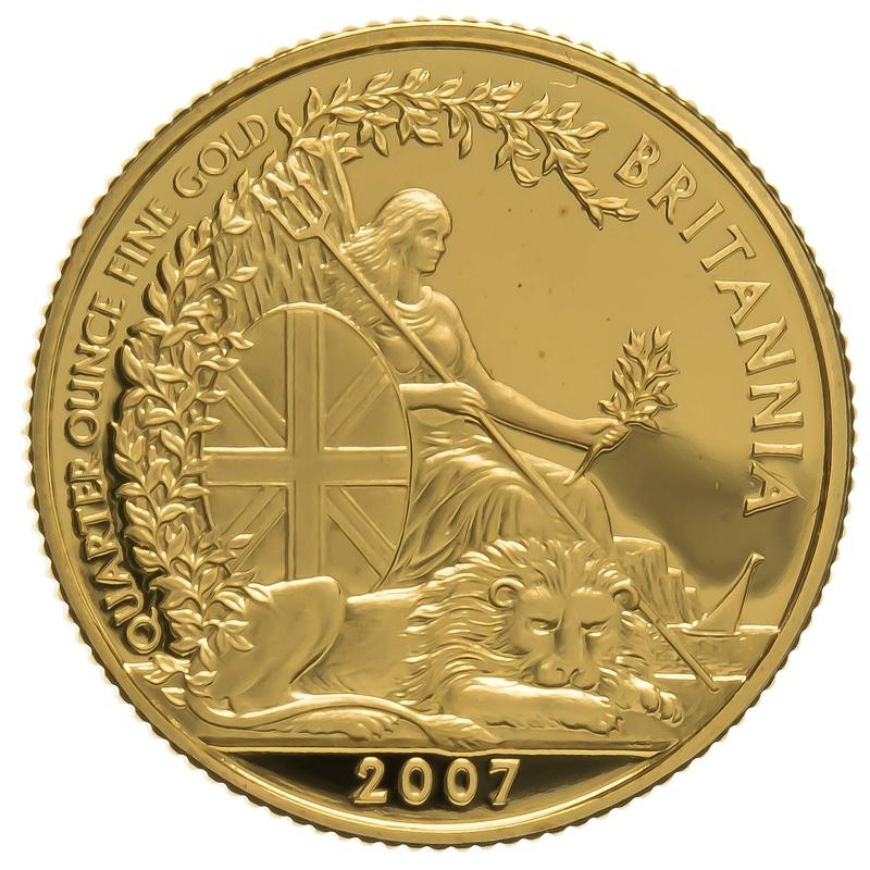 2007 Quarter Ounce Proof Britannia Gold Coin