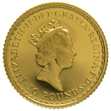 1995 Tenth Ounce Proof Britannia Gold Coin