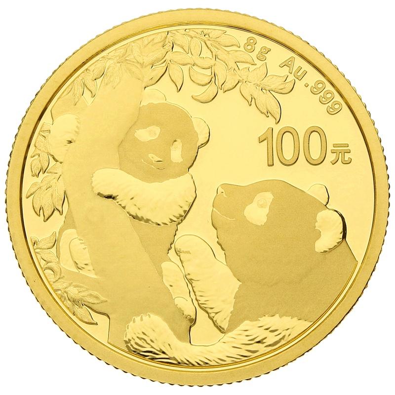 2021 8g Gold Chinese Panda Coin