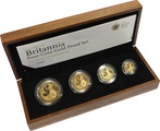 2008 Proof Britannia Gold 4-Coin Set Boxed